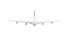 White airplane isolated Stock Images