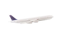 White airplane isolated Royalty Free Stock Photography