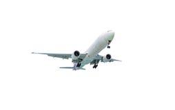 White airplane isolated on white background. royalty free stock image