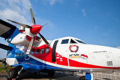 White airplane with propellers Royalty Free Stock Photography
