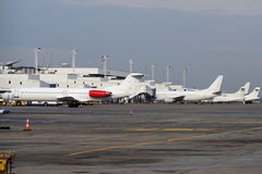 White airplanes Royalty Free Stock Photos