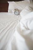 White alarm clock Royalty Free Stock Photo