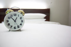 White alarm clock Stock Images
