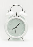 White Alarm clock, close up image Royalty Free Stock Photo