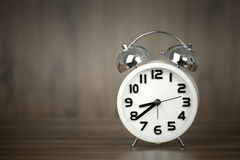 White alarm clock Royalty Free Stock Image