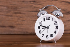 White alarm clock Royalty Free Stock Photos