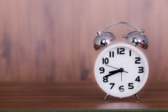 White alarm clock Royalty Free Stock Images
