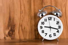 White alarm clock Stock Photo