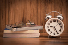 White alarm clock Stock Photo