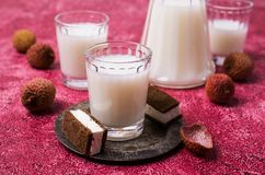 White alcoholic drink Stock Images