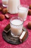 White alcoholic drink Stock Photos