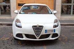 White Alfa Romeo Giulietta Type 940 car Stock Photos