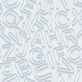 White alphabet paper seamless background. Stock Images