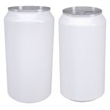 White aluminum beverage cans Royalty Free Stock Images