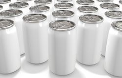 Aluminum white Can on white background. 3d rendering royalty free stock photo