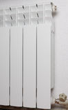 White aluminum hot-water radiator Stock Image