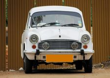 White ambassador car Royalty Free Stock Images