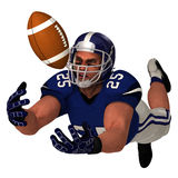 White American Football Player. White 3D American Football Player Royalty Free Stock Photo