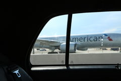White American Plane Royalty Free Stock Images