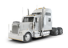 White american truck Royalty Free Stock Image