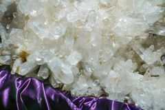 White amethyst crystal gemstones Royalty Free Stock Photography