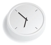 White Analog Clock Stock Images
