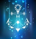 White anchor polygon Stock Photography