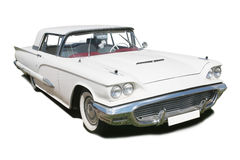 White ancient American car Royalty Free Stock Photos
