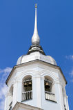 White ancient bell tower. Royalty Free Stock Photo