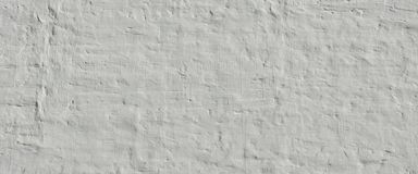 White Ancient Rough Bumpy Brick Wall Background Royalty Free Stock Photo