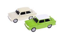 White ancient toy car Stock Photography