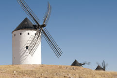 White ancient windmill Stock Photos