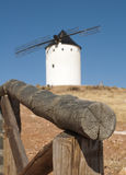 White ancient windmill Stock Photography