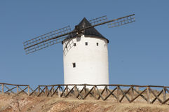 White ancient windmill Stock Photo
