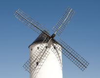 White ancient windmill Royalty Free Stock Photography