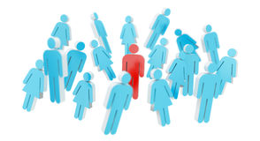 Free White And Blue Group Of People Icon 3D Rendering Royalty Free Stock Images - 95290209