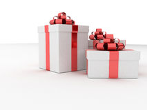 White And Red Presents Stock Photos