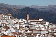 White Andalusian village Algatocin Stock Images