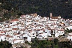 White Andalusian village Algatocin Stock Photos