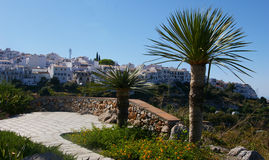 White andalusian village of Frigiliana. Royalty Free Stock Image