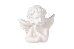 White angel. Statue isolated with clipping path Stock Photo