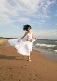 White angel on the beach Stock Photography