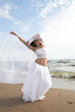 White angel on the beach Royalty Free Stock Images
