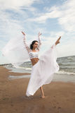 White angel on the beach Stock Photos