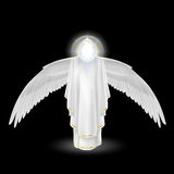 White angel on black Stock Photo