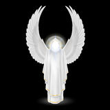White angel on black Royalty Free Stock Photos