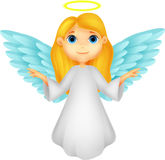 White angel cartoon Stock Photo