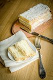 White Angel Food Cake Royalty Free Stock Photos