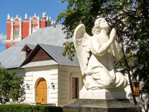 White angel. Novodevichy convent. stock photos