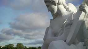 White angel statue stock video footage